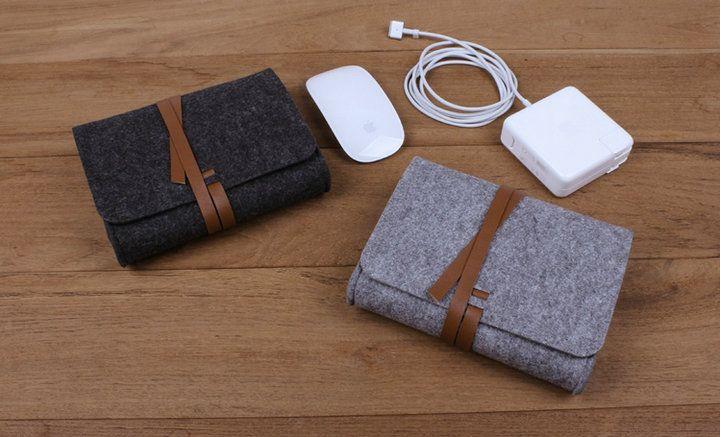 Fühlte Aufbewahrungstasche Maus mobile Festplatte Tasche Drop Shipping Kann angepasst werden Logo hinzufügen