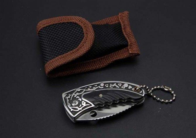 Classico Saba Mini Pocket Karambit Coltello pieghevole 7CR17MOV Manico in rame Claw Tactical Caccia sopravvivenza Pocket Keychain EDC Tool Collection
