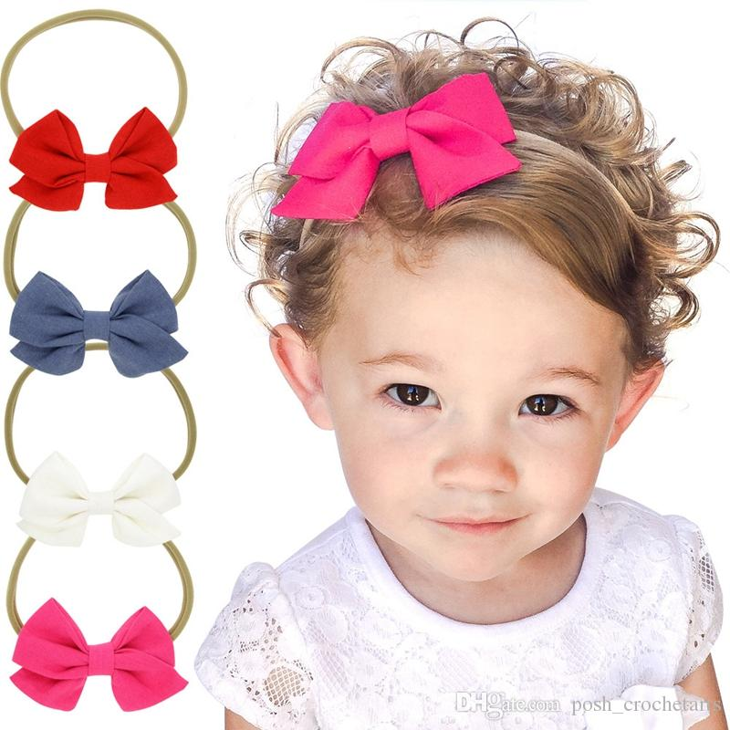 Cotton Bow Headbands For Babies Fashion IG Handmade Hair Accessories For  Sale 2017 Elastic Head Band Baby Shower Gifts Giveaways Hair Accessories  Bridal ... e82d9ac95bb