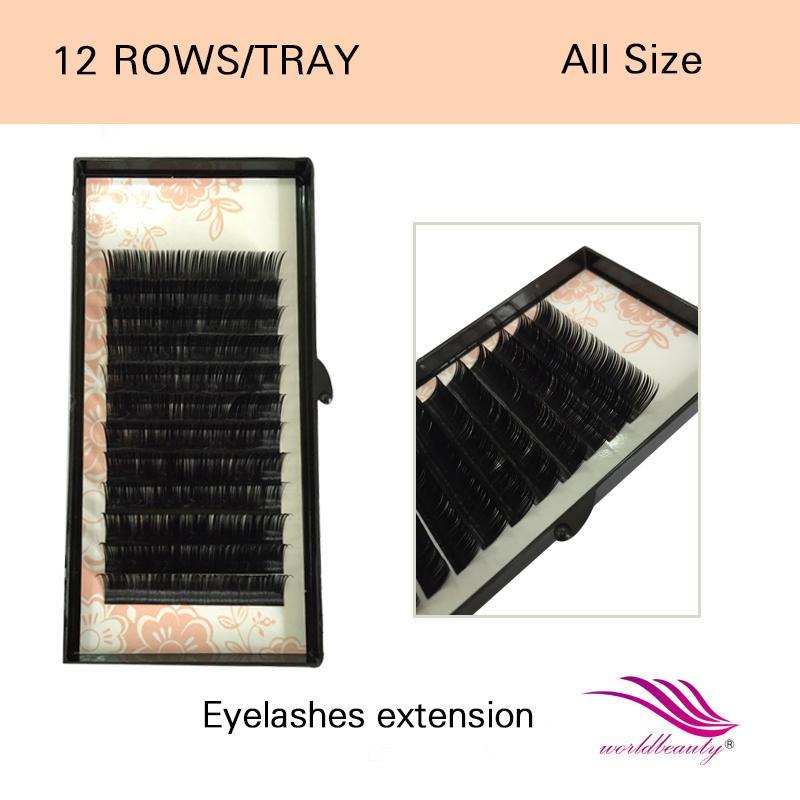 Wholesale Best Faux Mink Eyelash Extension 5 Trays Each All Size