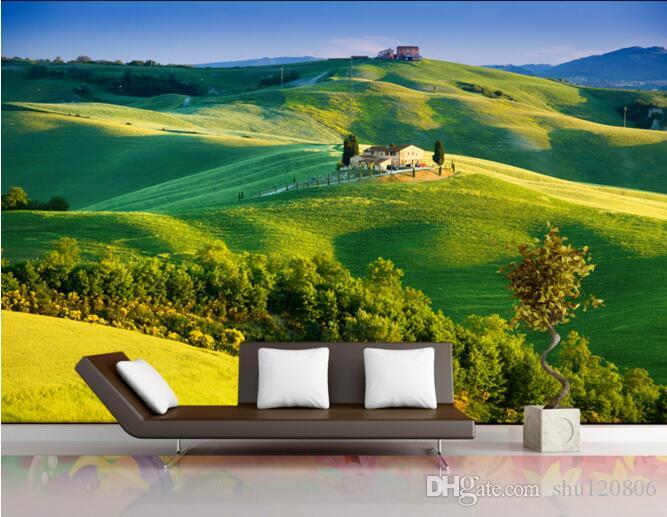Custom 3d Mural Wallpapers Hd Landscape Mountains Lake: 3d Wallpaper Custom Photo Non Woven Mural Wall Sticker Hd