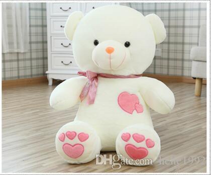 ff5894419af 45 Cm Teddy Bear Plush Toys Wedding Dolls Press Hold Bear Doll Doll ...