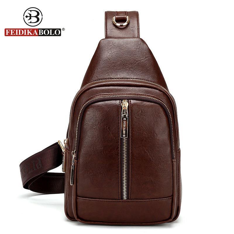 Wholesale FD BOLO Brand Bag Men Small Chest Pack Leather Men Messenger Bags  Men Brown Crossbody Chest Bag Leather Travel Shoulder Bags Satchel Handbags  ... 26dc96a172179