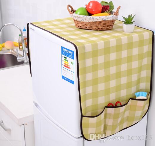 Mail gratuit accrocher / linge de ménage en coton et en lin housse de réfrigérateur pour recevoir le sac draps anti-poussière housse de protection anti-poussière double