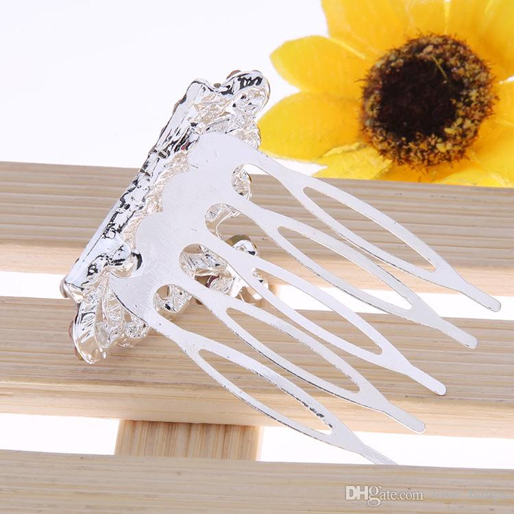 Handmade Children Girls Crystal Hair Combs baby Butterfly Hairpin Rhinestone Hair Jewelry Princess Crown Tiaras Hair Accessories
