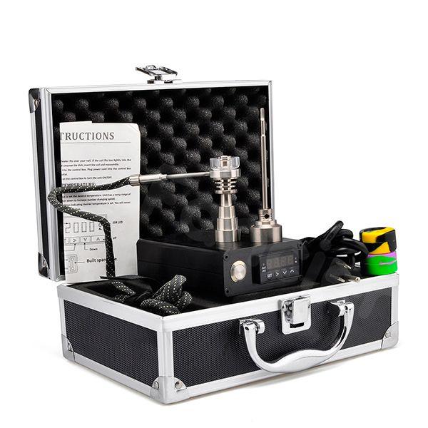 E electric nail for dabber rig dab nail Hybrid quartz titanium Nail Kit PID Temperature Control Box heating Coil 10mm/16mm/20mm