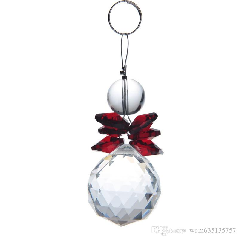 K9 Crystal Ball Pendant Rainbow Suncatcher Prisms Pendants Handmade Hanging Pendants Home Decoration 30mm W046-30mm