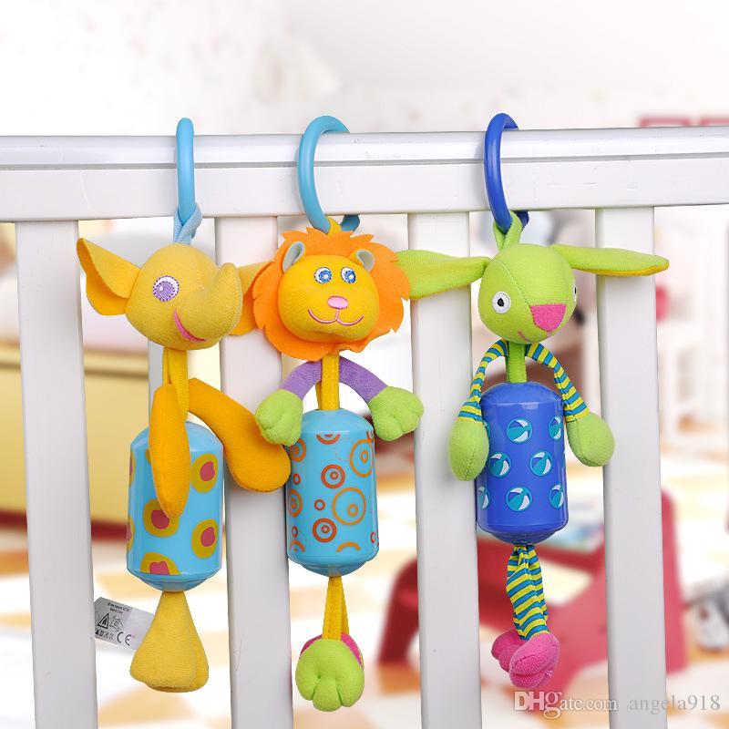 Haute Qualité Bébé Jouet Lit Suspendu En Peluche Poupée Cloche Carillons À Vent Animal Vent Carillon Hochets Infantile Développement précoce Jouet E1283