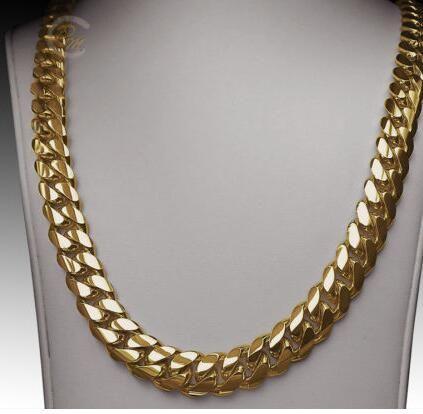 Compre Collar De Cadena De Eslabones Cubanos Cubanos De 14K Oro Miami Para  Hombre 24 Pesados 267.2 Gramos 12 Mm A  24.13 Del Zhaozhaoli88  17aa0972fc0