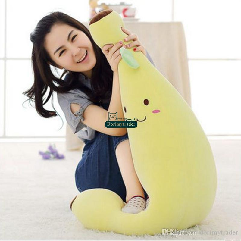 2019 Dorimytrader Realistic Fruits Banana Plush Toy Big Soft Stuffed