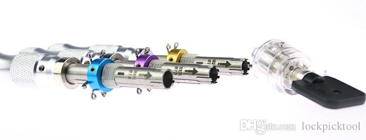 2018 HUK 7 핀 관 잠금 선택 도구 7.0mm 7.5mm의 7.8mm 잠금 + 7 핀 관 잠금 투명 매화 꽃 실린더 도구를 따기