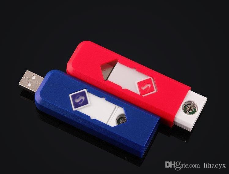 Accendino elettronico ricaricabile Accendino elettronico Super-uomo Cigarette Turbo Accendino Batteria senza fiamma Cigar c127