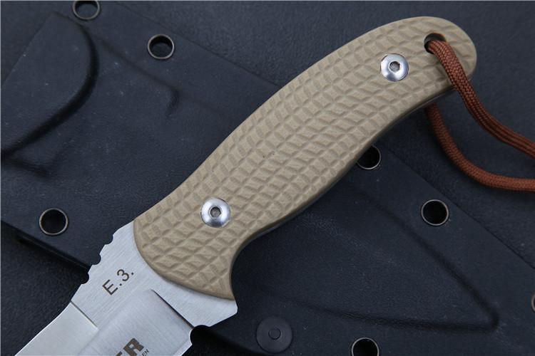 حار ثابت نصل السكين AUS-8 بليد الأسود g10 مقبض الصيد كامب بقاء التكتيكية مستقيم السكاكين أدوات في الهواء