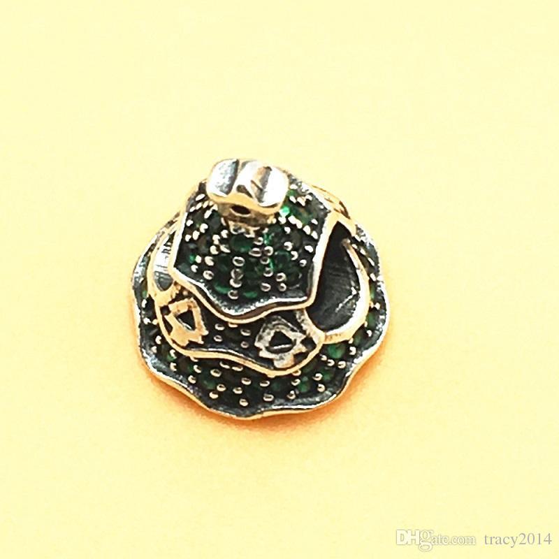 Pandora Christmas Tree Charms 925 Sterling Silver Branelli allentati filo FAI DA TE Braccialetto Fashon Gioielli Authentic Quality Big Hole Accessori