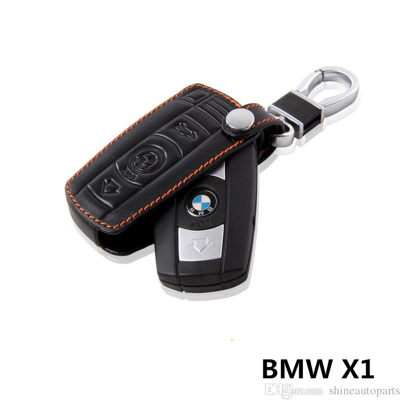 Leather Cowhide Key Holder Case Ring BMW X1 Dedicated Buttons Keychain  Cover Accessories Car And Key Car And Keys From Shineautoparts 1155da278aac