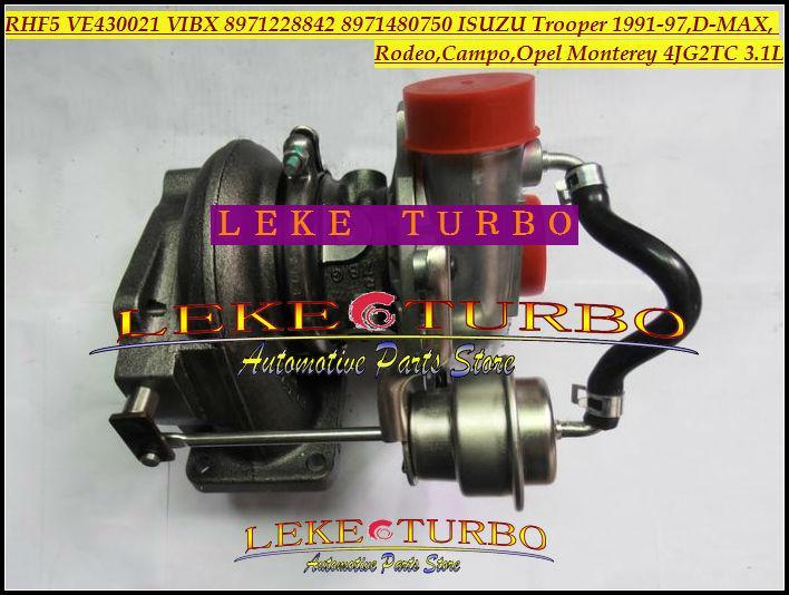 RHF5 VE430021 VIBX 8971228842 8971480750 ISUZU Trooper 1991-97,D-MAX,Rodeo,Campo,OPEL Monterey 4JG2TC 3.1L turbocharger (6)