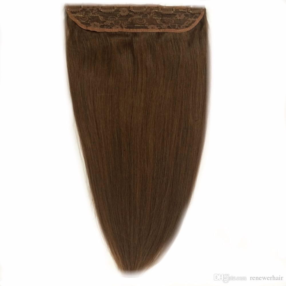16 18 20 22 24 80g Quad Weft One Piece Clip In Hair Extensions Light
