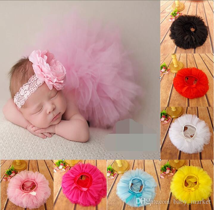 HOT SALE! 15% off!!!6pcs/Set (3pcs Baby Girls Tutu Skirt + 3pcs Headband )Infant bubble Dance ball Gown Ballet Skirt Newborn costume BN
