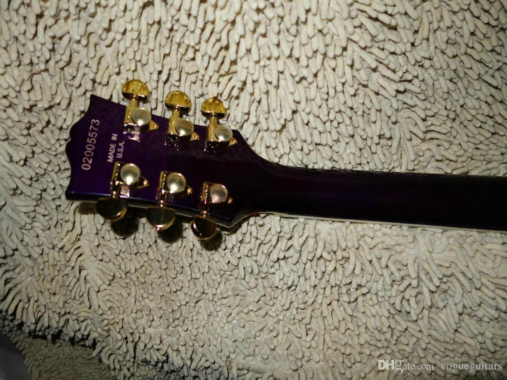 DIY الغيتار الجسم بالجملة القيثارات بيربل بيرف مخصص غيتار كهربائي الجسم شحن مجاني