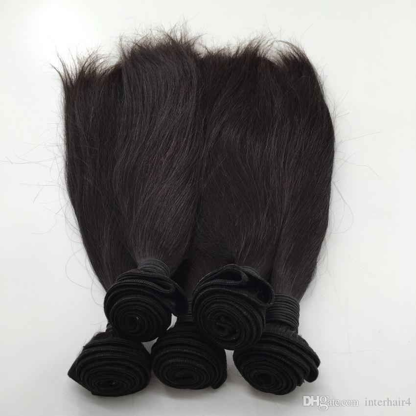 Indian,Peruvian,Malaysian Original Human Brazilian Hair weft Wavy Brazilian Straight Virgin Human Hair Weaves Products