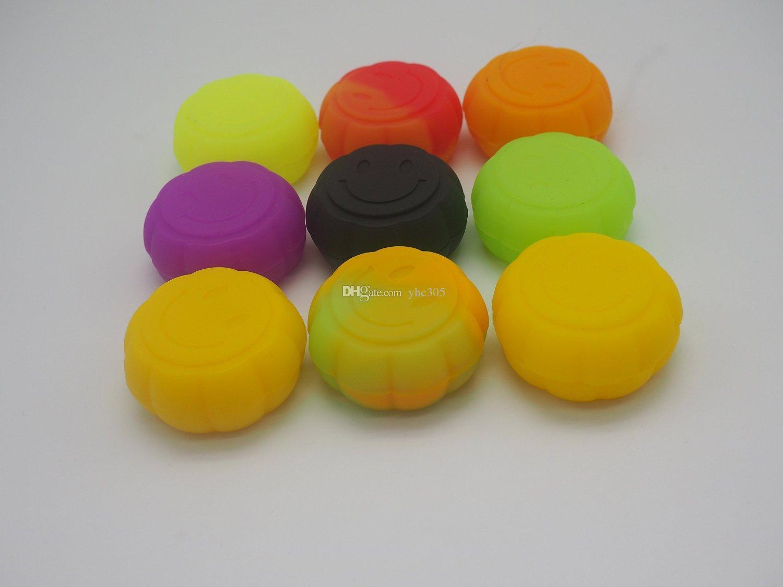 100X calidad Siliocne antiadherente contenedor 5 ml forma de calabaza único tarros de silicona dab contenedor de cera al por mayor