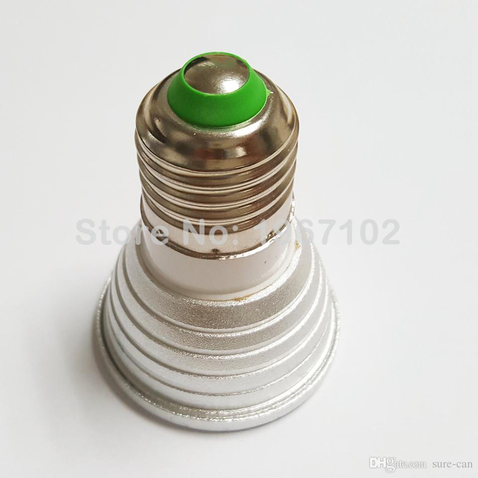 3W 5W GU10 MR16 E27 E14 RGB LED 전구 Lampada 16 색 LED 램프 조광 조명 스포트라이트 12V + 24key 리모콘 candelier