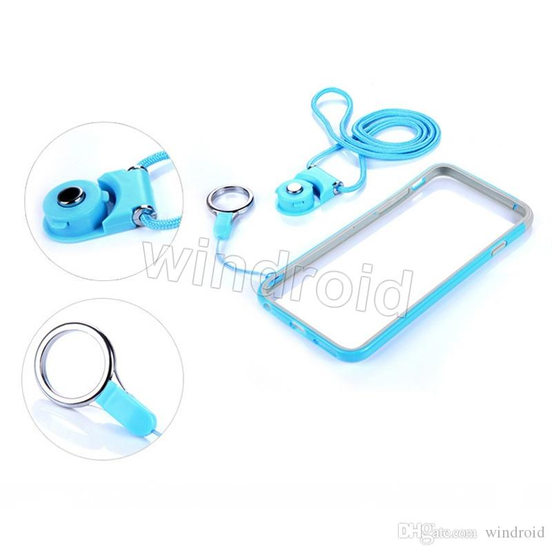 Rotatable Neck Strap Detachable Ring Lanyard hanging Charming Charms For Cell Phone MP3 MP4 Flash Drives ID Cards Cell phone Colorful