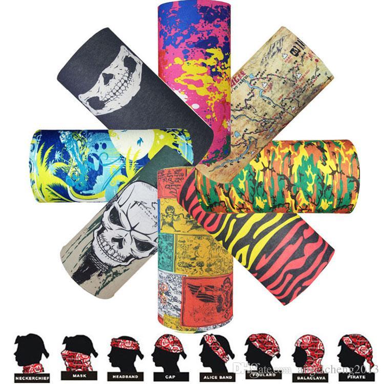 Multifuncional Sem Costura Mágica Crânio Cachecol Variedade Quente Cosplay Halloween Cs Ski Headwear Meia Face Bandana Máscara Do Partido 236 modelos