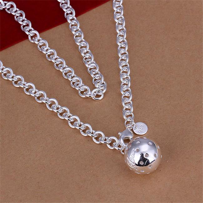 Hot venda Lob colar esterlina da placa de prata colar STSN045, a nova marca de moda 925 correntes de prata colar de venda direta da fábrica de presente de Natal