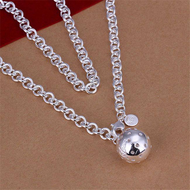 Lob venta caliente collar collar de plata esterlina STSN045, manera a estrenar de 925 cadenas de plata collar de fábrica de la venta directa de regalo de Navidad