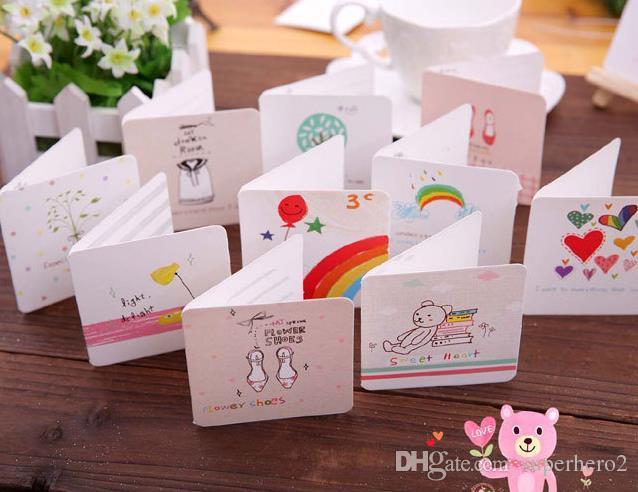 Праздничная мультипликационная поздравительная открытка вечеринка свадебные приглашения бумажные открытки с конвертом День Рождения Пасха Юбилейный День Благодарения