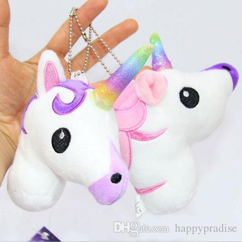 New Lovely Jumbo Unicorn Keychain Pendant Plush Keyring Bagpack Bags