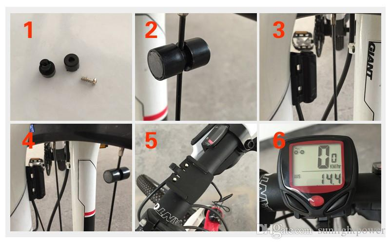 Bisiklet Bilgisayar Eğlence 14-Functions LCD Ekran Ile Su Geçirmez Bisiklet Kilometre Sayacı Kilometre Bisiklet Bilgisayarla ...