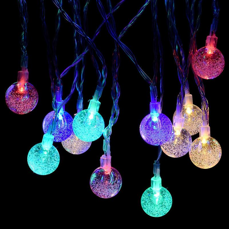 Wholesale Battery Christmas Lights 5M 50 LED String Light Crystal Bubble  Ball Fairy String Lights For Outdoor, Gardens, Christmas Party Outdoor  String ... - Wholesale Battery Christmas Lights 5M 50 LED String Light Crystal