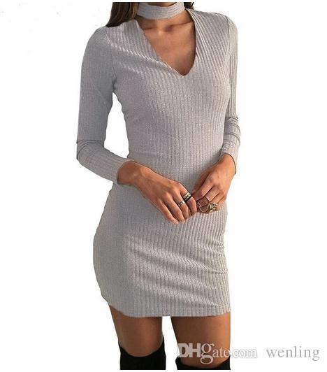 Trabalho da Mulher Vestidos Bainha Sexy Mais Novo Sólido Preto Cap Manga Gola Na Altura Do Joelho Bodycon Vestido