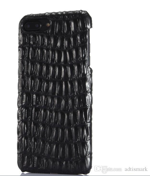 الفاخرة حالة الهاتف جلد طبيعي لفون 7 زائد 3D نمط تمساح الجلد 6 6S زائد سليم غطاء الحالات الهاتف المحمول