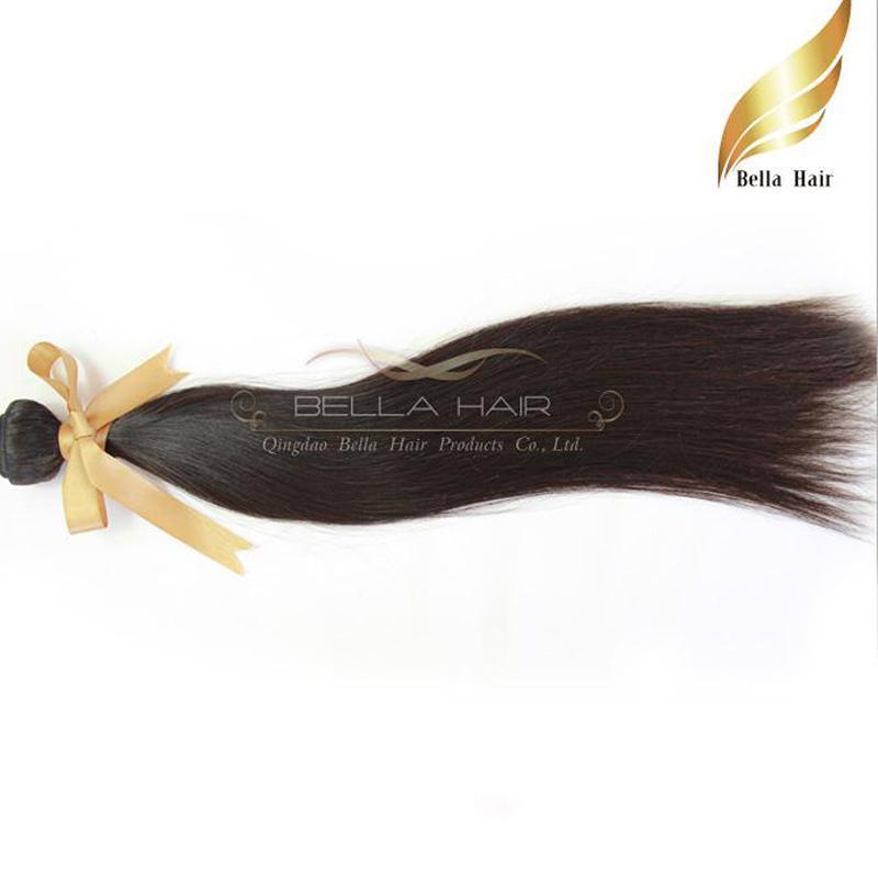 "Cheap Brazilian Hair Extensions Human Hair Weave Bundles Hair Straight Weft 12""-30"" Bellahair DHL Drop Shipping 9A Bellahair"