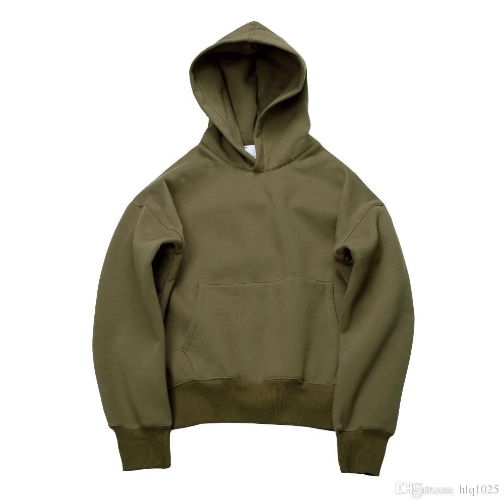b60500b94600 Hip Hop Hoodies with Fleece Winter Mens Kanye West Hoodie Sweatshirt ...
