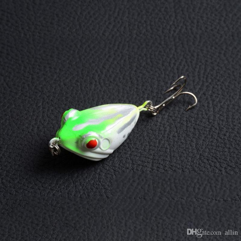 4 cm 6g MOCRUX 3D Señuelo de la Pesca del Ojo Colorido Rana Duro Cebo Sharp Hook Tackle topwater Señuelos de Pesca Tackle Bait Hooks