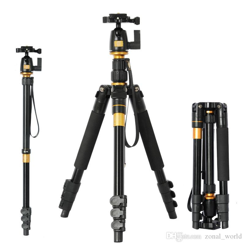 DHL Beike Q555 Aluminum camera Tripods Professional with Ball Head DSLR extendable Monopod Travel Photography Canon Nikon tripods