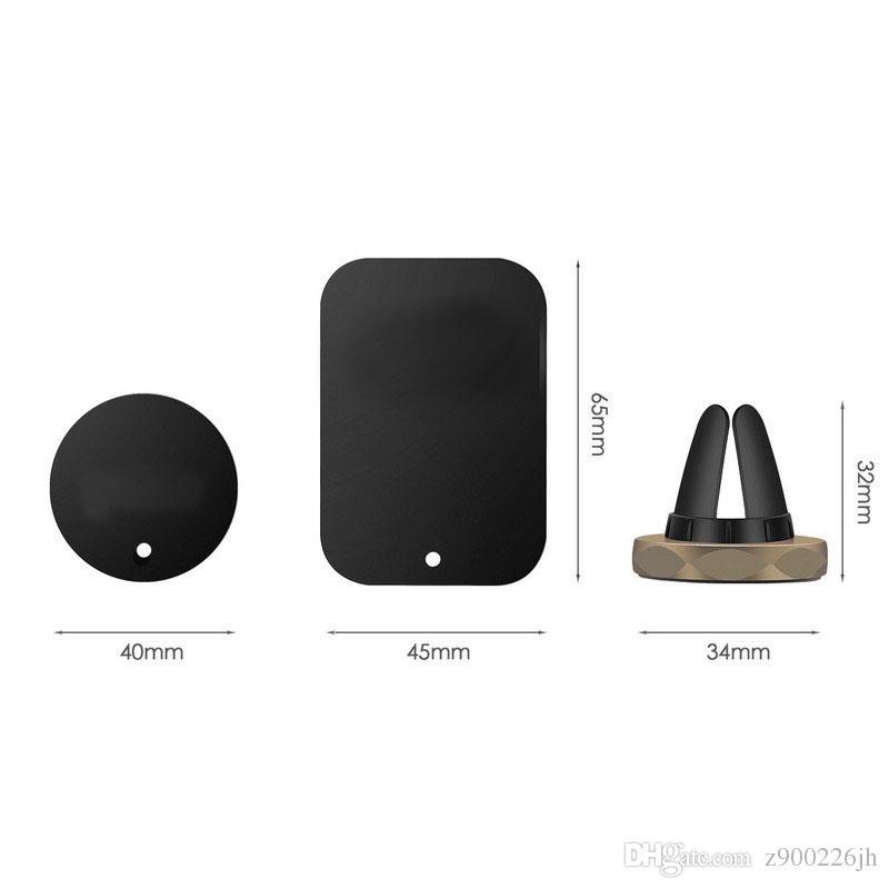 Soporte para coche Mini Air Vent Mount Imán Magnetic Mobile Phone Holder Universal para iPhone 6 6s 7 8 GPS Soporte Soporte Soporte