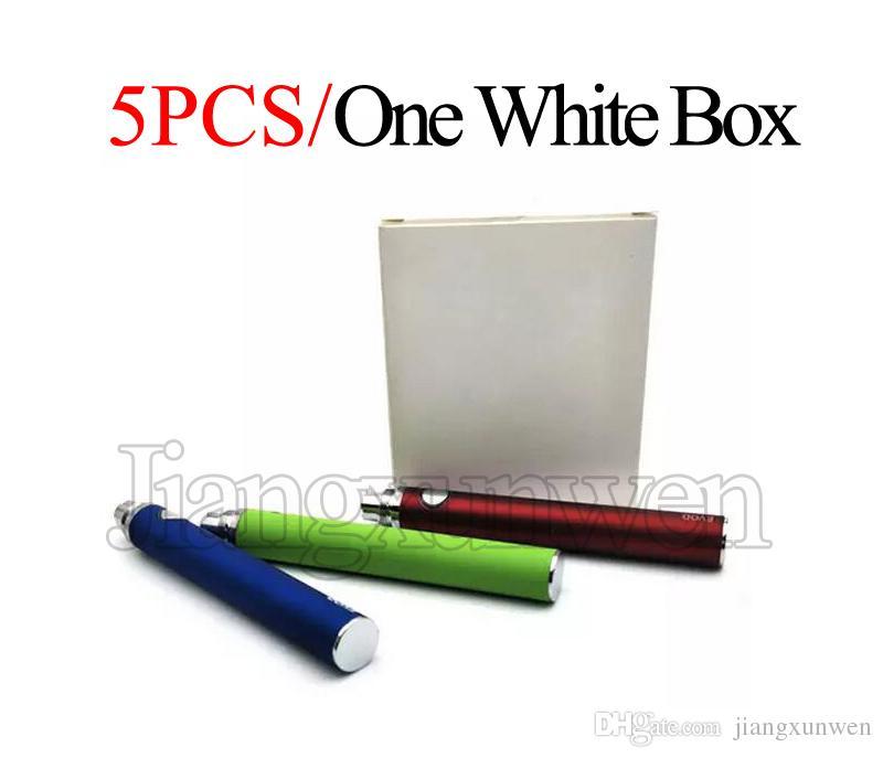 Evod Baterias Ecig Bateria 650mAh 900mAh 1100mAh Para Ego-T 510 Rosca vivi nova EVOD BCC MT3 Atomizador Vape Caneta E Bateria De Cigarro