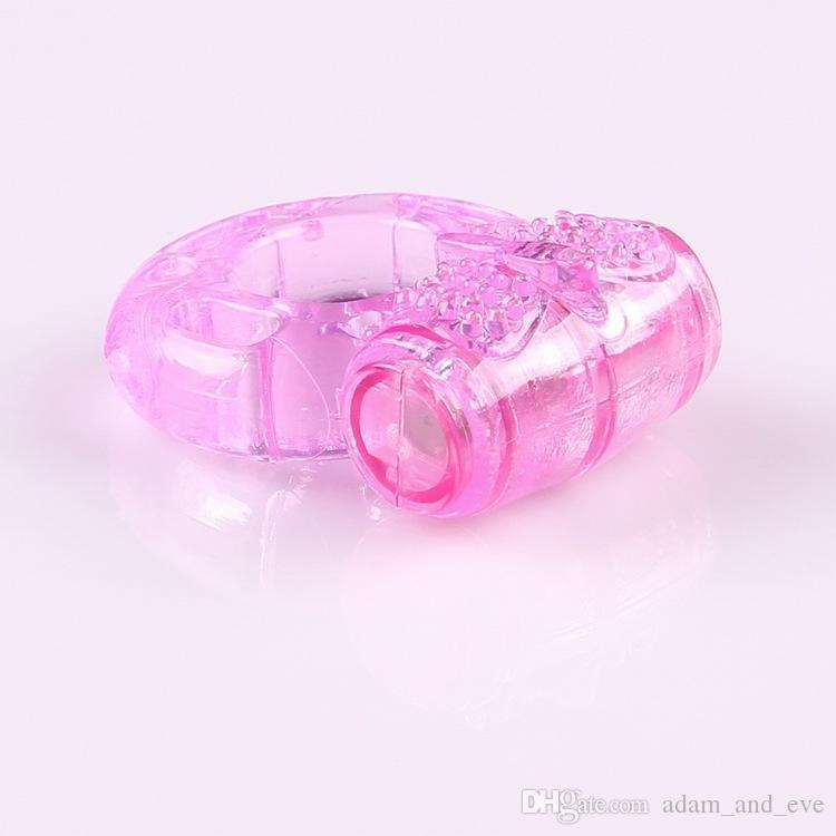 Farfalla Silicone Cock Ring Jelly vibrazione del pene Ring Ritardo Eiaculazione precoce Blocco giocattoli del sesso gli uomini