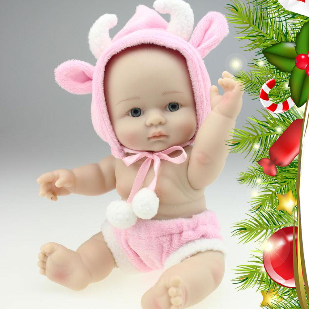 Alive Beautiful Mini Reborn Baby Doll With Pink Sheep