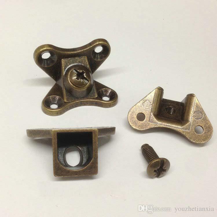 Zink-Legierung Schraube Grüne Bronze Möbelbeschläge Dreifach-Stecker Platte Montage Haushalt Hardware DIY-Verschluss