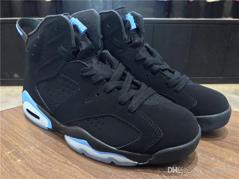 fb88d2db6db Top Quality 6 UNC University Black Blue VI 6s OG Men Basketball Shoes  Sports Trainers Sneakers Wholesale Double Box Size 8 13 Girls Basketball  Shoes Best ...