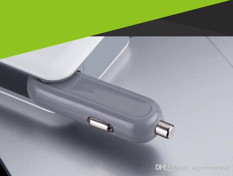 2 en 1 Coche Cargador de pared de viaje en casa Cargador de coche Puerto USB doble Adaptador de enchufe de EE. UU. Cargador de coche OTH079