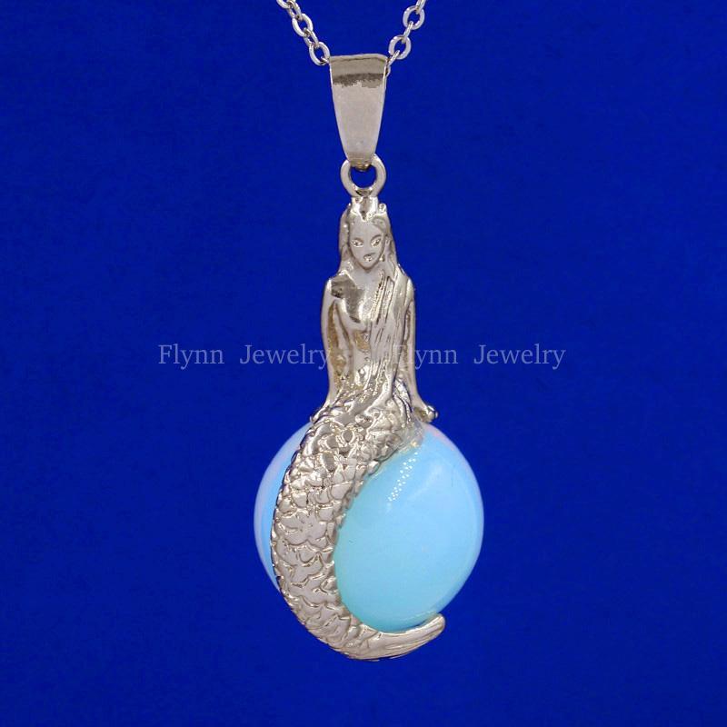 2016 Spring Hot Opal Crystal Quartz Natural Stone Bead Mermaid Reiki Pendulum Pendant Charm Wicca Witch Amulet Fashion Jewelry
