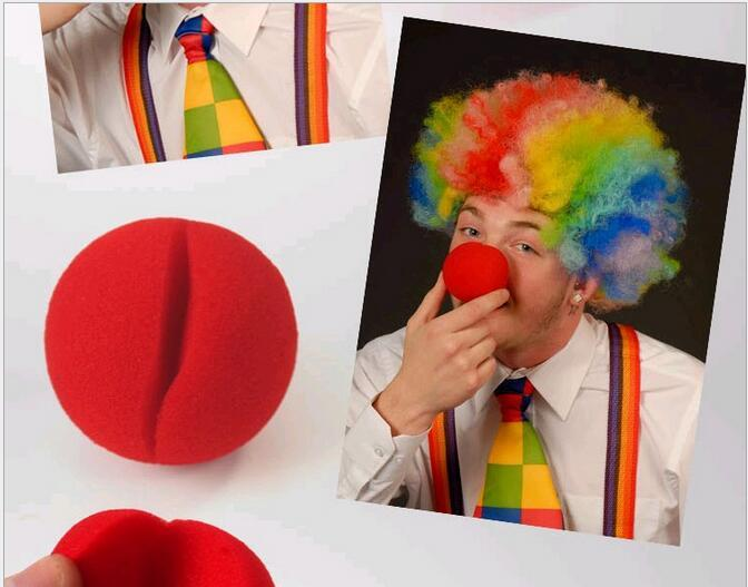 5cm Red Nose Foam Circus Clown Party Fun Nose Comic Party Supplies Halloween Accessories Costume Magic Dress Party Supplies