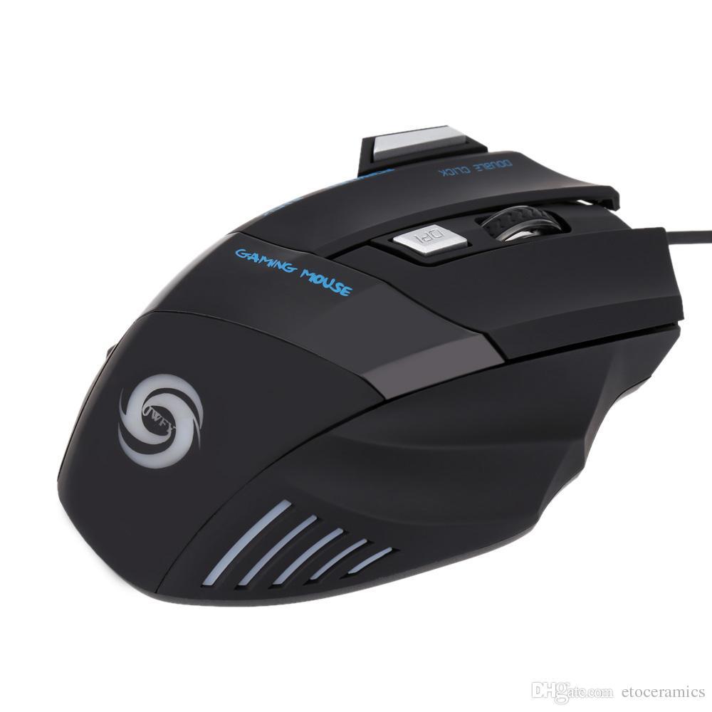 2016 Großverkauf der fabrik Neue Arrivel Professionelle 3200 DPI 7 Tasten 7D LED Optische USB Wired Gaming Maus Mäuse für Laptop PC